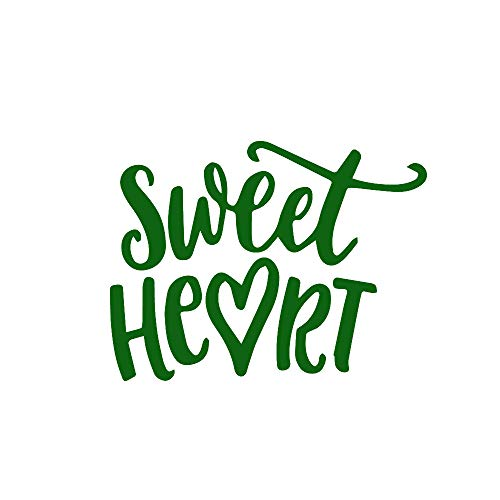 ANGDEST Sweet Heart (Green) (Set of 2) Premium Waterproof Vinyl Decal Stickers for Laptop Phone Accessory Helmet Car Window Bumper Mug Tuber Cup Door Wall Decoration