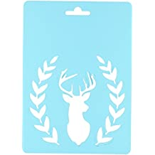"Momenta 287452 Stencil 5""X7"", Deer Head with Fauna"