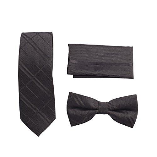 Bow Neck 04 Tie Hanky Fashion 3 Tie Gift Mens Feel Pcs Silk Skinny Style Accessories Set pzxcTwq