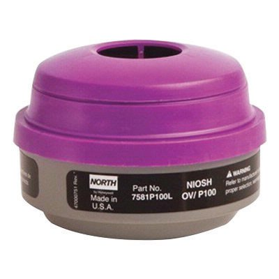 North by Honeywell Organic Vapors/Particulate P100 APR Cartridge For 5500, 7700, 5400 And 7600 Series Respirators 7581P100L