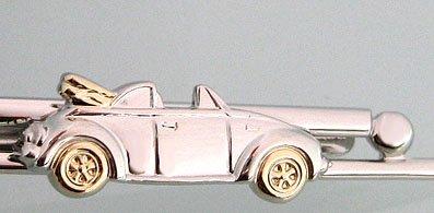 Unbekannt Cabrio Krawattenklammer Krawattennadel Auto Fahrzeug bicolor inkl Geschenkbox