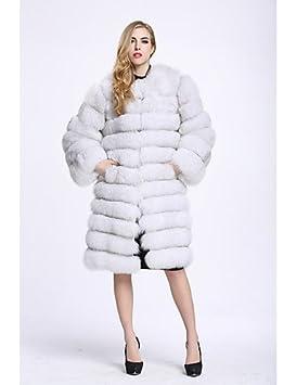 XUANKU bf-fur estilo de la mujer de salir Simple invierno abrigo de piel,