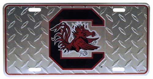NCAA South Carolina Fighting Gamecocks Diamond Plate Car (Diamond Tag)