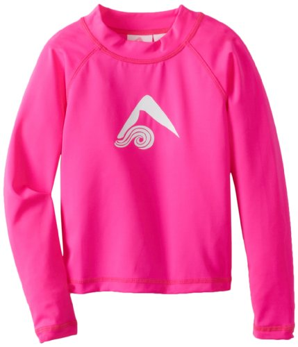 (Kanu Surf Little Girls' Toddler Keri UPF 50+ Long Sleeve Rashguards, Neon Pink, 2T)