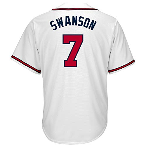 Womens Customized Replica Home Jersey - PGONENET_Men/Women/Youth_Dansby_Swanson_Home_White_Official_Cool_Base_Replica_Player_Jersey