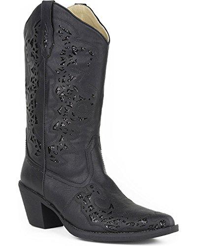 Roper Women's Alisa Work Boot, Black, 10 D US - Roper Leather Fashion Boots