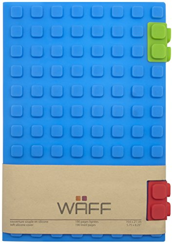"""WAFF Soft Silicone Cover Notebook/Journal, Large 8.25"""" x 5.5"""