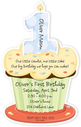 amazon com first birthday cupcake boy party invitations health