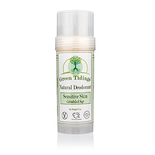 (Green Tidings Natural SENSITIVE SKIN Deodorant, Calendula & Sage (2.7 Ounces))