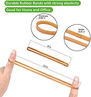 Garbage Cans Strong Elastic Bands for Office Supply Size 8 inches RBB-01 Esee Heavy Duty Trash Can Band 150 Pack Large Rubber Bands File Folders