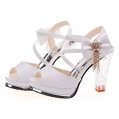 Chunky RTRY UK3 Heel Women'S US5 White Pu Casual Sandals Club Spring Gold Up Buckle Summer Shoes CN35 Light Shoes Other Comfort 5 EU36 5 11Oq7fwnr