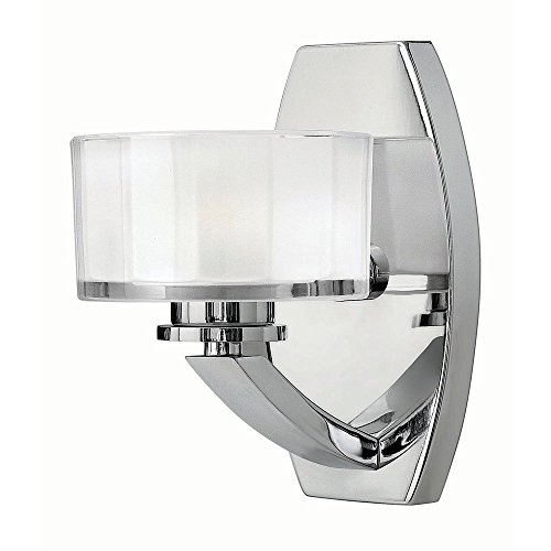 Hinkley Lighting Fixtures Bathroom (Hinkley Lighting 5590CM-LED2 LED Bathroom Light, 6.6W Meridian 1-Light Fixture - Chrome)