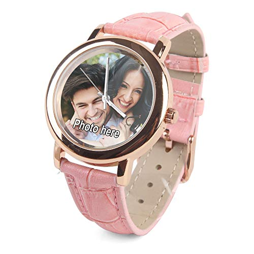 (Personalized Picture Watch Women,Custom Girlfrend Gift for Birthday Valentine)