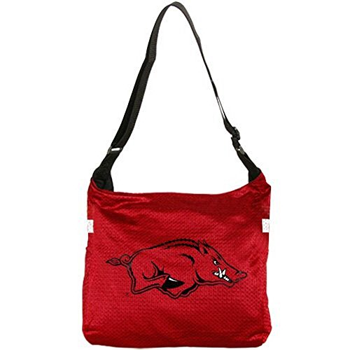 Football Fanatics NCAA Arkansas Razorbacks Ladies Cardinal Veteran Jersey Tote Bag ()