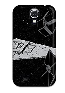 Flexible Tpu Back Case Cover For Galaxy S4 - Artistic Tie Squadron With Star Destroyer