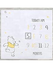 "Disney Baby Winnie the Pooh 2-Piece Milestone Blanket & Frame Set, White, 47"" x 47"""