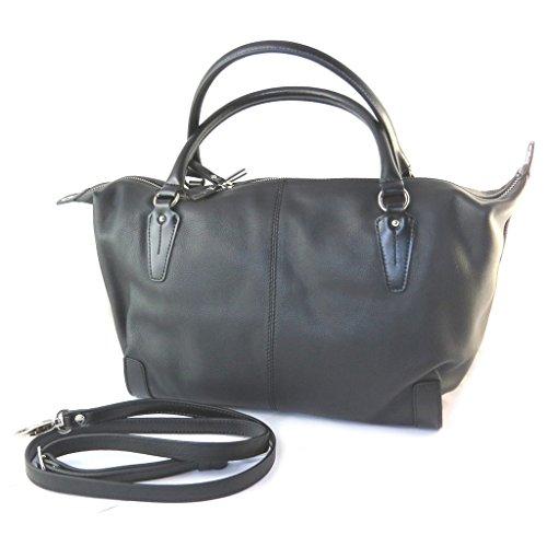 """Gianni Conti [N8063] - Sac cuir """"Gianni Conti"""" noir - 50x25x15 cm"""