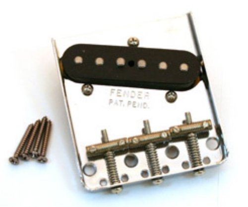 Fender American Vintage '62 Tele Custom Bridge Assembly with Pickup - Nickel