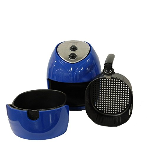 Cook's Companion 1700W 5.8 qt High Speed Air Fryer w/ 25 Recipes – Blue