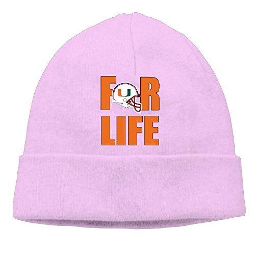 OLala University Of Miami Hurricanes For Life Men And Women Fashion Knitted Beanie Skull Caps