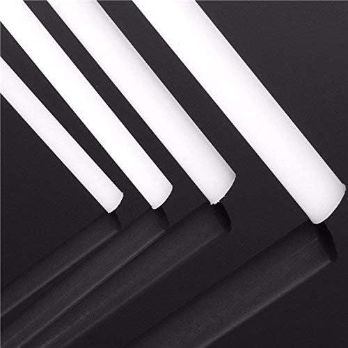 5 mm Kunststoffstab Rund Acetal Acryl Stab 5 mm auf Durchmesser L/änge Acetal Stab