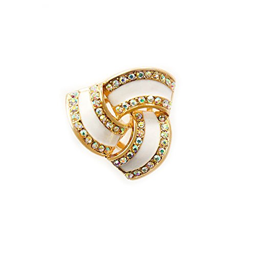 Fashion Scarf Ring Buckle Scarf Clip Triple Slide Jewelry Shiny Clothing ()