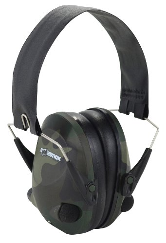 Boomstick Gun Accessories Electronic Folding Earmuff Noise Safety Hearing Protection, Camouflage by Boomstick Gun Accessories