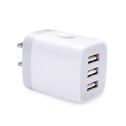 Amazon.com: Cargador USB multipuerto, Hootek 3,1 A ...