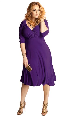 IGIGI Women's Plus Size Francesca Dress in Amethyst