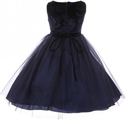 8fa24199615 Girls Dress Sleeveless Floral Velvet Rose Tulle Christmas Flower Girl Dress  - Buy Online in UAE.