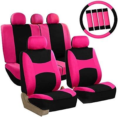 Car & Truck Interior Parts FOR HYUNDAI NEW SEMI CUSTOM GREY VELOUR CAR SEAT STEERING WHEEL COVERS MATS SET