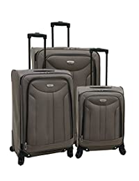 Samboro Luggage Envoy Collection Spinner 3-Piece Set - Taupe Color