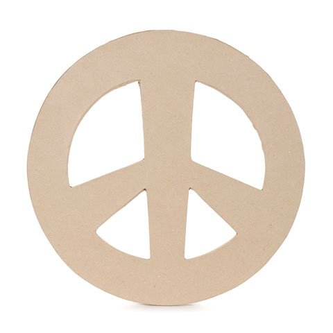 Bulk Buy: Darice DIY Crafts Paper Mache Peace Sign 12-1/2 x 1/4 inches (6-Pack) 2873-321 Inc.