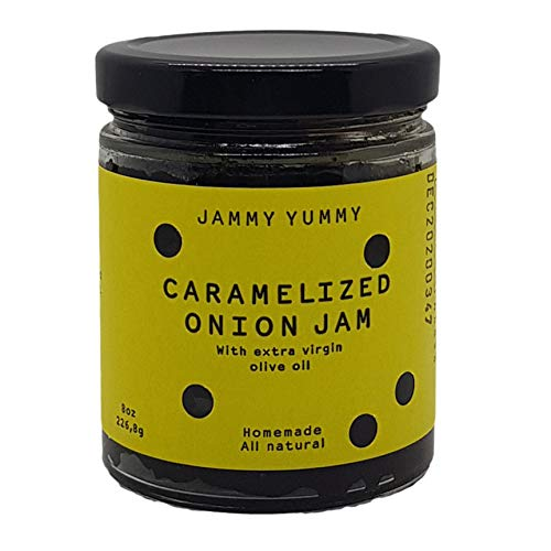 (Caramelized Onion 8oz Spread - All Natural Onion Jam - Real Caramelized Onion - JAMMY YUMMY- Made with Onions, Sugar, Extra Virgin Olive Oil and Salt...)