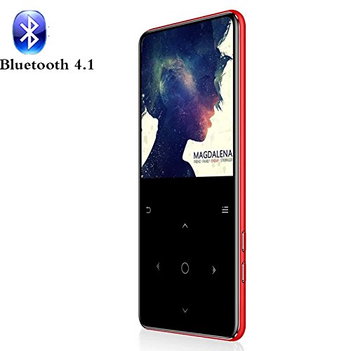 Sotefe® 16GB Reproductor de MP3 Bluetooth 4.1 MP3 Players Táctil Multi-función Altavoz Súper Sonido/Video/FM Radio/E-Book/Registro Juegos De Música Más 80h (Soporte Tarjeta hasta 128GB)