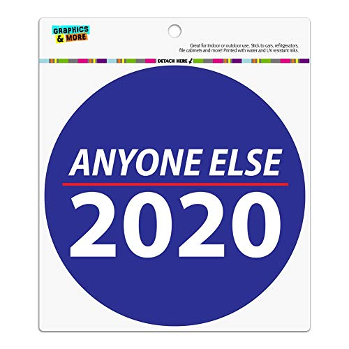 Graphics and More Anyone Else 2020 Election Democrat Republican Donald Trump Automotive Car Refrigerator Locker Vinyl Circle Magnet