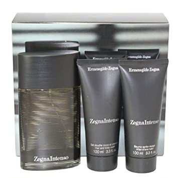 Amazon.com   ZEGNA INTENSO Cologne. 3 PC. GIFT SET ( EAU DE TOILETTE ... bd8a2b7190c
