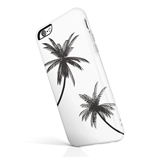 iPhone 6 Plus / 6s Plus case for Girls, Akna Collection Flexible Silicon Cover for Both iPhone 6 Plus & iPhone 6s Plus [Black Palm Trees](601-U.S)