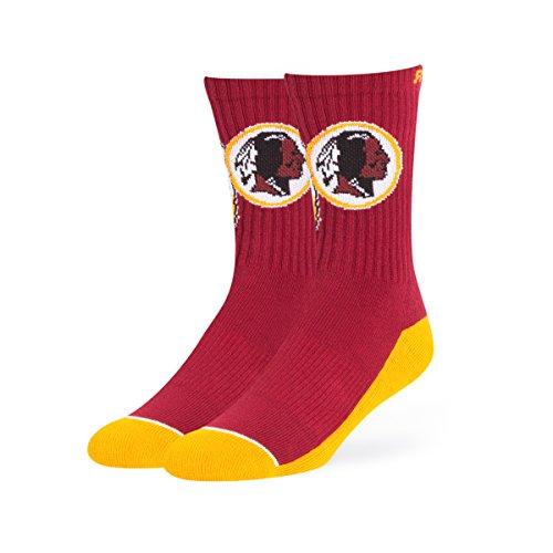 NFL Washington Redskins OTS Anthem Sport Sock, Cardinal, Large