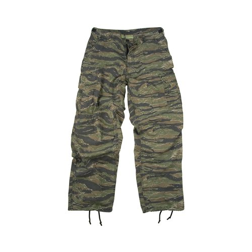 Pants Ripstop Fatigue Vietnam (Camouflage Cargo Pants Tiger Stripe Camo Vintage Fatigue Pants(XLRG))
