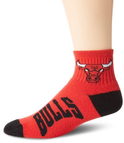 NBA Chicago Bulls Men's Team Quarter Socks, Medium ()
