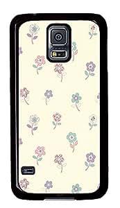 Samsung Galaxy S5 Flower Pattern Design PC Custom Samsung Galaxy S5 Case Cover Black