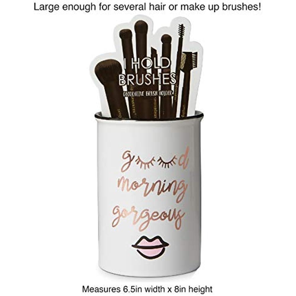 Cosmetic Display Cases Tri-coastal Design Ceramic Makeup Brush Holder Morning Up 4