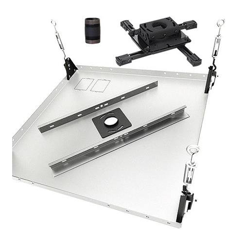 Chief KITPB003 Projector Ceiling Mount Kit, Includes RPA Universal & Custom Projector Mounts, CMA455 Ceiling Tile, 3'' Extension Column, Black by Chief (Image #1)