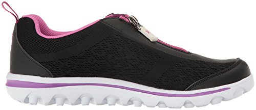 Berry Prop Women's Zip Walking TravelActiv Propet t Shoe Black Zwq1rZ8pF