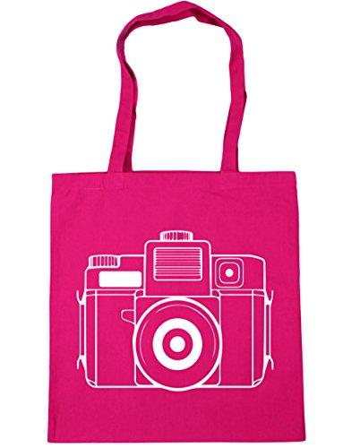 42cm Bag x38cm HippoWarehouse Tote Fuchsia Beach Gym illustrated litres camera Shopping 10 wOYH0q