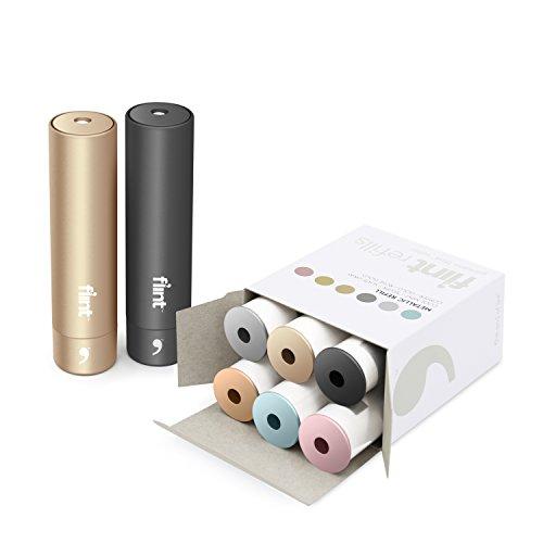 - Flint Gift Set, 2 Retractable Lint Rollers, 6 Refills