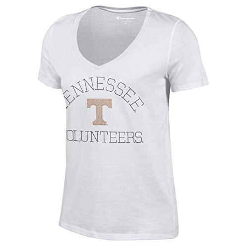 NCAA Champion Women's University Short Sleeve V-Neck T-Shirt Tennessee Volunteers Large ()