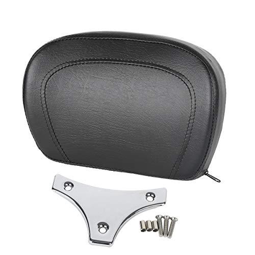 Backrest Bracket - TCMT Detachable Leather Sissy Bar Backrest Pad Bracket Fits For Harley Touring Road King Electra 1997-2019