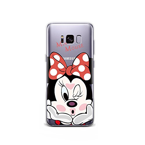 GSPSTORE Galaxy S7 Edge Case Disney Cartoon Mickey Minnie Mouse Soft Transparent TPU Protector Cover for Samung Galaxy S7 Edge Style14